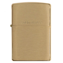 Zippo-Lighter Brushed brass finish